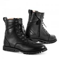 SHIMA THOMSON BLACK męskie skórzane buty motocyklowe