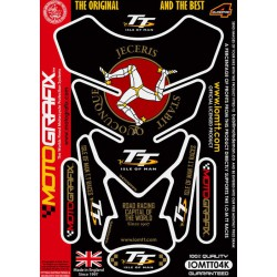 Tankpad Motografix Isle Of Man TT Races Official Licensed 3D Black