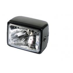 Lampa przednia kwadratowa H4 z swiatłem postojowym Cafe Racer