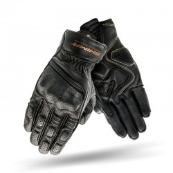 SHIMA AVIATOR BLACK męskie rękawice skórzane