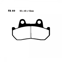 Klocki hamulcowe EBC FA069 HONDA CB CBX CX FT GB GL NS VF VT XBR XL XLV