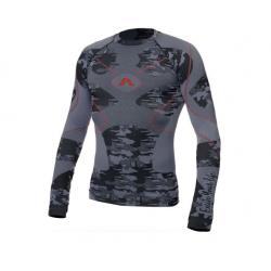 Koszulka termoaktywna ADRENALINE GLACIER czarno/szara