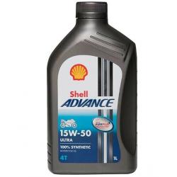 Olej silnikowy syntetyczny SHELL ADVANCE ULTRA 4T 15W50 1L