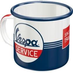 Kubek emaliowany na prezent VESPA SERVICE 43214 360ml