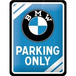 Plakat, tablica metalowa do garażu na prezent BMW PARKING ONLY 26177
