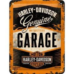 Plakat, tablica metalowa do garażu na prezent HARLEY-DAVIDSON GARAGE 26178