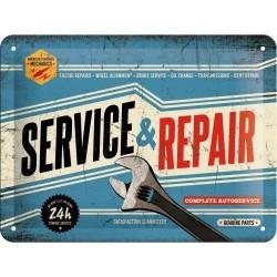 Plakat, tablica metalowa do garażu na prezent SERVICE 26179