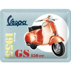 Plakat, tablica metalowa do garażu na prezent VESPA GS150 26231