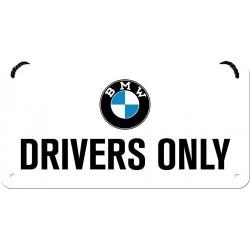 Zawieszka, metalowy szyld na prezent BMW DRIVERS ONLY 28034
