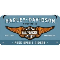 Zawieszka, metalowy szyld na prezent HARLEY-DAVIDSON 28023