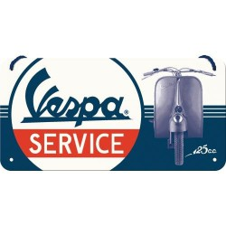 Zawieszka, metalowy szyld na prezent VESPA SERVICE 28028