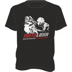 T-shirt męski, koszulka motocyklowa męska na prezent czarna MOTOLUKA
