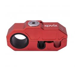 Blokada manetki gazu oraz hamulca KOVIX Grip lock z alarmem czerwony