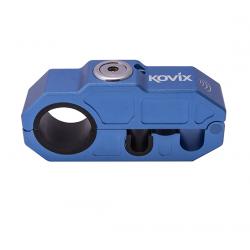 Blokada manetki gazu oraz hamulca KOVIX Grip lock z alarmem niebieska