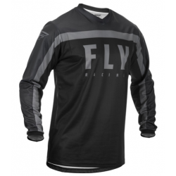 FLY F-16 BLACK/GREY męska koszulka cross enduro off road