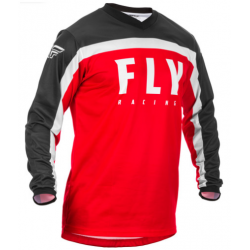FLY F-16 RED/BLACK/WHITE męska koszulka cross enduro off road