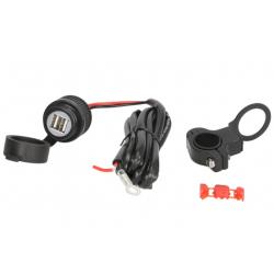 Gniazdo USB motocyklowe wodoszczelne 5V 2A