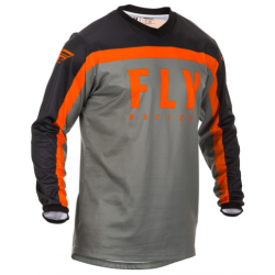 FLY F-16 GREY/BLACK/ORANGE męska koszulka cross enduro off road