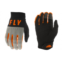FLY F-16 GREY/BLACK/ORANGE męskie rękawice cross enduro off road