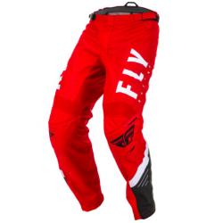 FLY F-16 WHITE/BLACK/RED męskie spodnie cross, enduro, off road