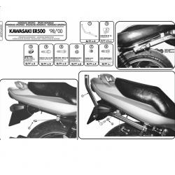 Kappa stelaż kufra centralnego KAWASAKI ER5 500 98-00