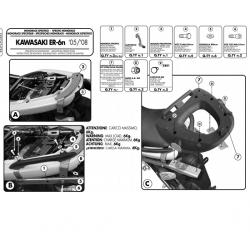 Kappa stelaż kufra centralnego KAWASAKI ER-6N ER-6F 650 05-08