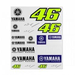 VR46 naklejki zestaw YAMAHA VALENTINO ROSSI