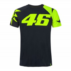 VR46 T-shirt koszulka motocyklowa męska SUN AND MOON HELMET
