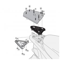 Kappa stelaż kufra centralnego PIAGGIO NEW FLY 50 125 12-17