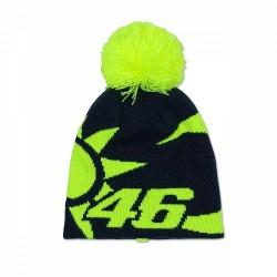 VR46 czapka zimowa dziecieca black / fluo