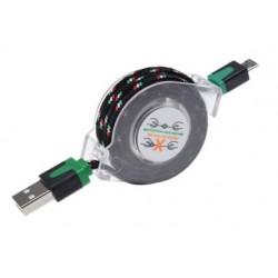 Zwijany kabel MICRO USB 1m