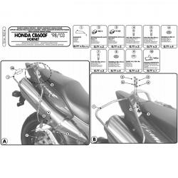 Kappa stelaż pod miękkie sakwy boczne HONDA CB 600 F S Hornet 98-06