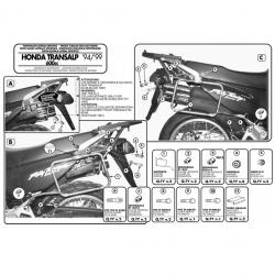 Kappa stelaż kufrów bocznych monokey HONDA TRANSALP 94-99