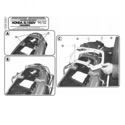 Kappa stelaż kufrów bocznych monokey HONDA XL 1000V Varadero 99-02