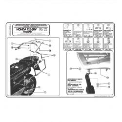 Kappa stelaż kufrów bocznych monokey HONDA XL 650V Transalp 00-07