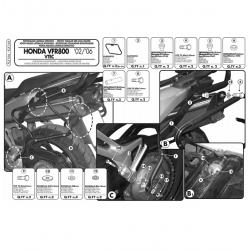 Kappa stelaż kufrów bocznych monokey HONDA VFR 800 V TEC 02-11