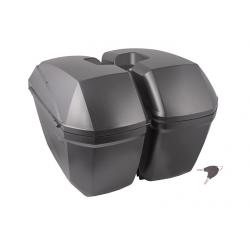 Kufry boczne uniwersalne czarne 2 x 23 L Moretti