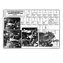 Kappa stelaż kufrów bocznych monokey SIDE YAMAHA FZ6 FZ 600 Fazer 04-06