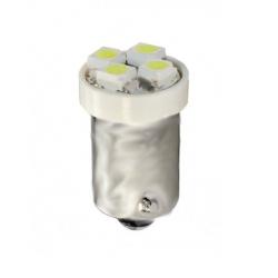 Żarówka diodowa LED L009 - Ba9s 4xSMD3528 biała