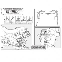 Kappa stelaż kufrów bocznych monokey BMW R 1100 1150 850 GS