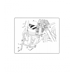 Kappa gmole osłony silnika HONDA XL 600 V Transalp 89-99