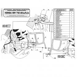 Kappa gmole osłony silnika HONDA Africa Twin 750 90-02