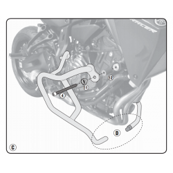 Kappa gmole osłony silnika YAMAHA MT-07 Tracer 16-19