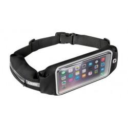 Sportowa nerka Plus na telefon kartę czarna