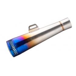 Tłumik wydech stalowy srebrno/niebieski MORETTI