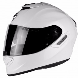 SCORPION EXO-1400 AIR SOLID GLOSS WHITE kask integralny z blendą