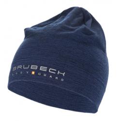 BRUBECK czapka dwuwarstwowa z wełny merino pod kask GRANATOWA
