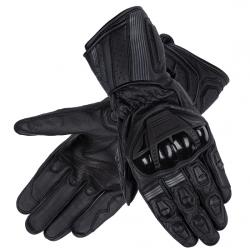 Sportowe męskie rękawice motocyklowe OZONE RS-600 CZARNE