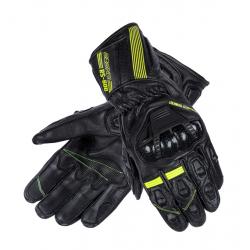 Sportowe męskie rękawice motocyklowe OZONE RS-600 FLUO