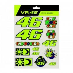 VR46 naklejki zestaw VALENTINO ROSSI